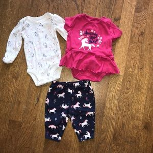 Carter's Newborn Unicorn Set